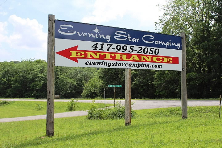 New Evening Star Camping Sign